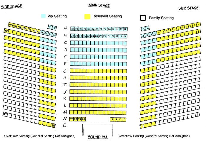 harveys outdoor arena seating chart